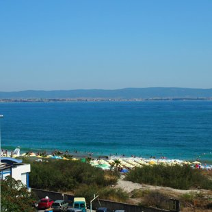 The Balkan mountains in the distance and the Central Pomorie beach right at your doorstep.