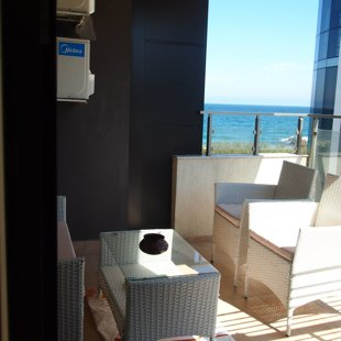 The terrace overlooks one of Pomorie best beaches.