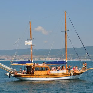 Tourist boats offer sightseeing sail trips around the bay and beyond