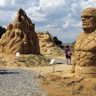 Sand scluptures from the  Burgas annual exibition.